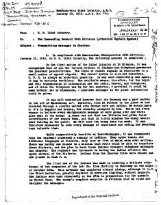 "Page 1 of memo ""Transmitting Messages in Choctaw"" from ARC Identifier 301641"