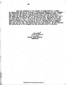 "Page 2 of memo ""Transmitting Messages in Choctaw"" from ARC Identifier 301641"