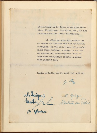 Hitler's Private Will with Signatures, p3