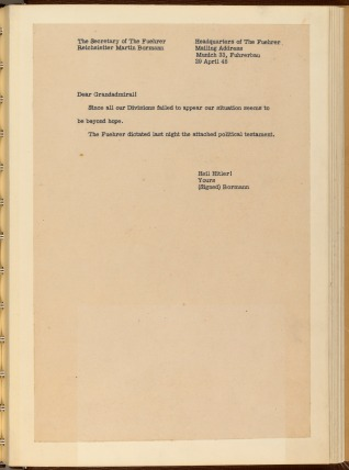 English Translation of Bormann's Letter