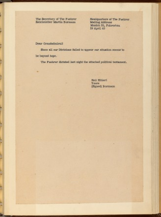 English Translation of Bormann's Letter
