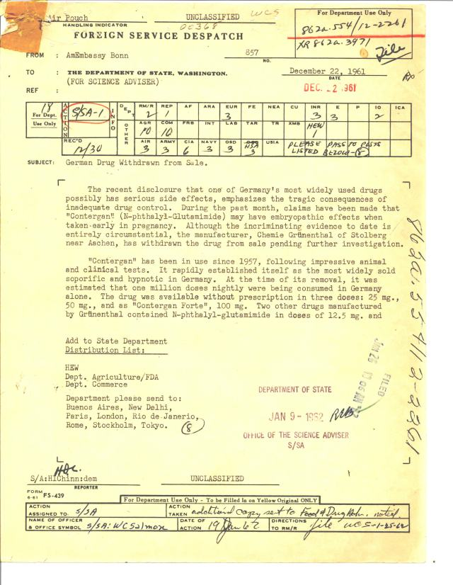 Despatch 857, American Embassy, Bonn to the Department of State, 12/22/1961 p1