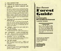 Souvenir guide from Colorado Petrified Forest