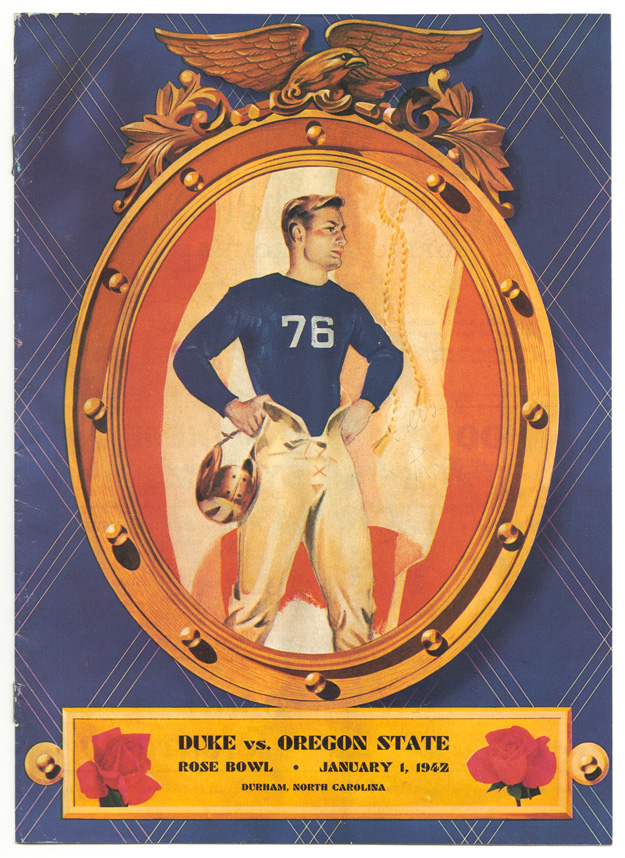 Rose Bowl game program from January 1, 1942