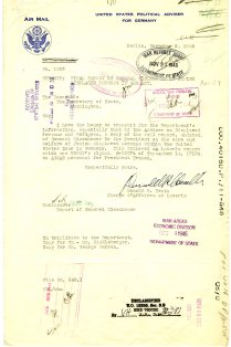 Final Report by General Eisenhower on Displaced Persons in Germany p1