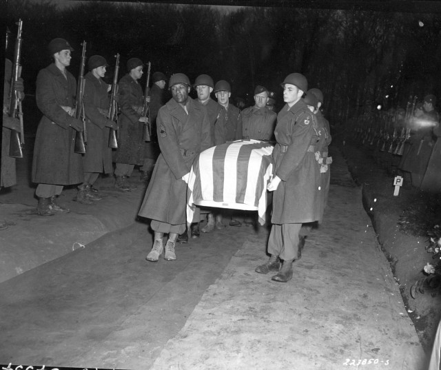 photo of General Patton's casket