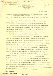 Report of 1st Lt. SC Allen Fial, Dec. 28, 1945 P.1