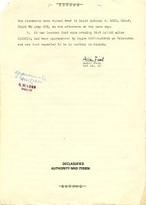 Report of 1st Lt. SC Allen Fial, Dec. 28, 1945 P.3