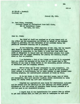 Adams letter of January 23, 1941, p. 1