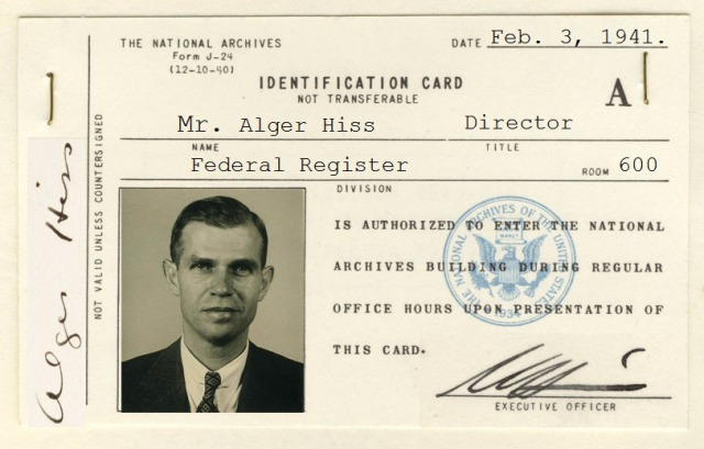 Alger Hiss ID Card - Photo Illustration