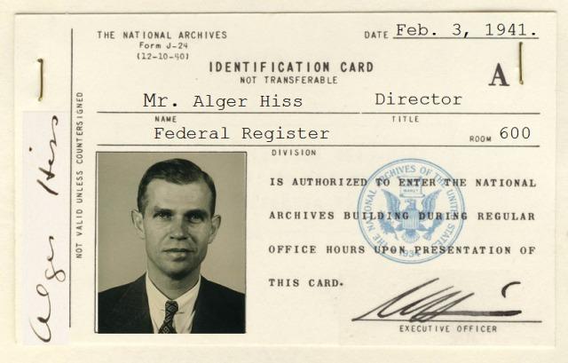 Alger Hiss ID Card - Photo Illustration