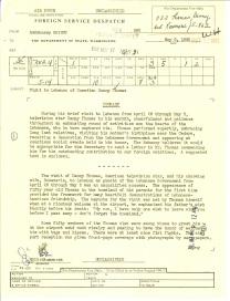 Report regarding Visit to Lebanon of Comedian Danny Thomas, May 8, 1962 p1
