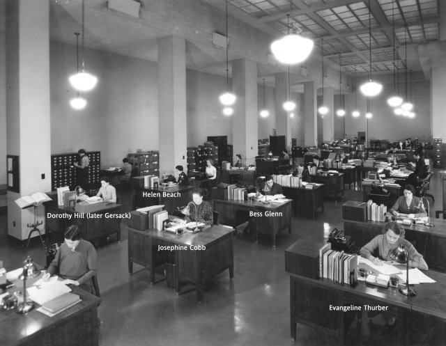 64-NA-193 Division of Cataloging and Classification, 1937