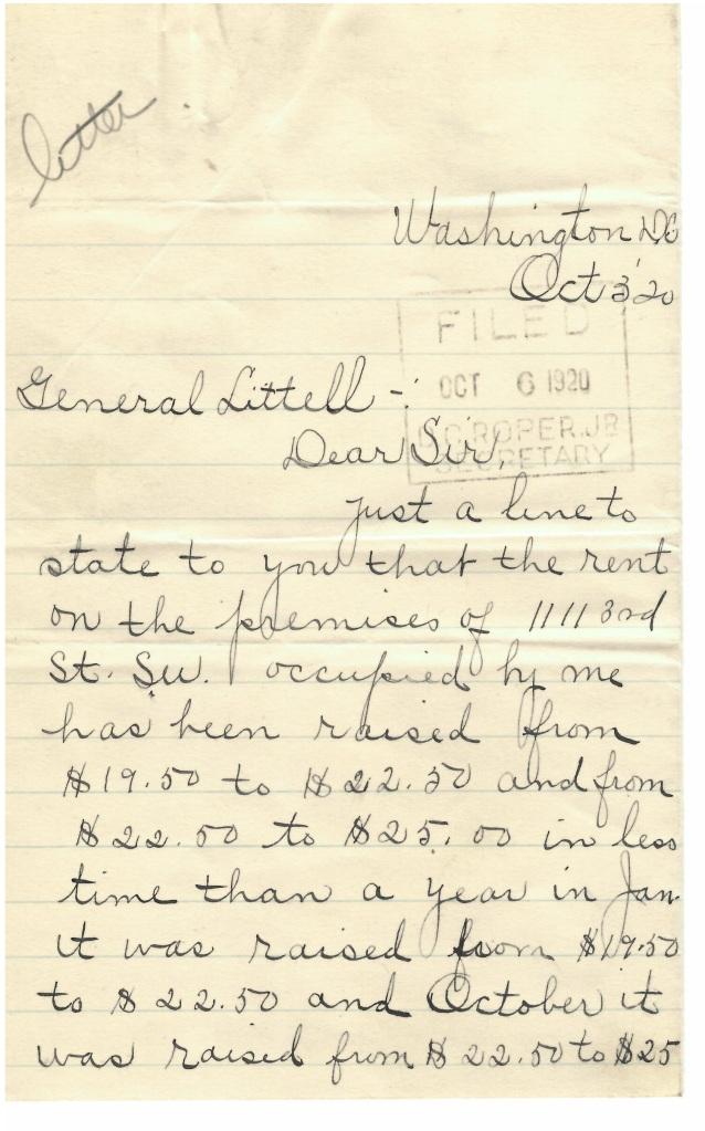 RG 132 Entry 3 folder 1920J Letter