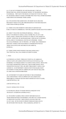 Telegram from American Embassy Kinshasa subject: Request for US Government Assistance to Festival of Zaire 74 (II)