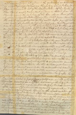 Letter from Caleb Brewster to President George Washington, in Series NAID 583574, Letters Received (Misc?), March 15, 1792, p. 2.