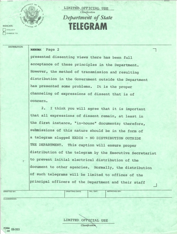 Telegram from Department of State to all diplomatic and consular posts, 201473, p. 2.