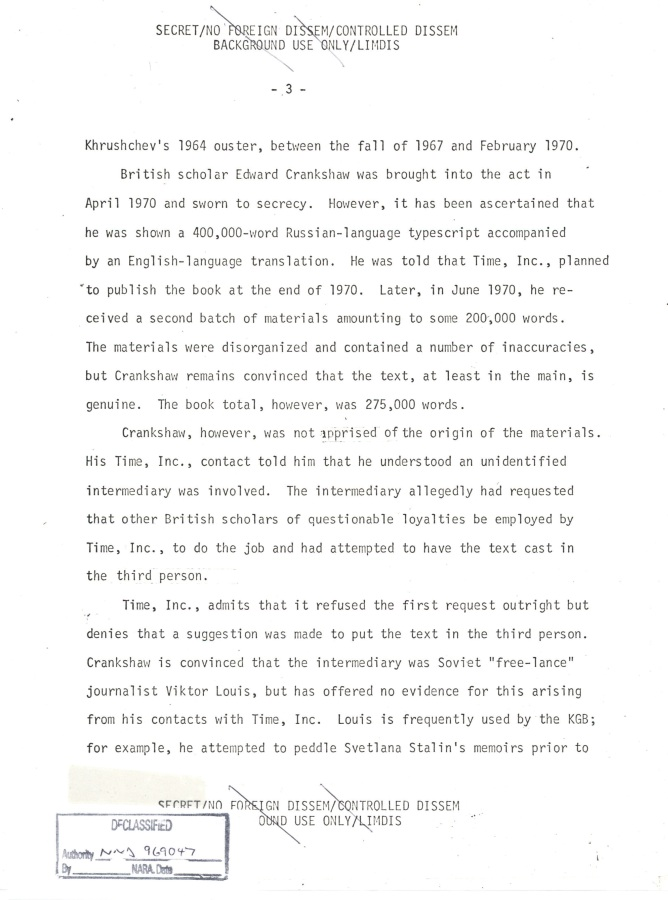 INR Roundtable Discussion of Krushchev Remembers, SNF.POL 6 USSR State Memo to President, Page 3.