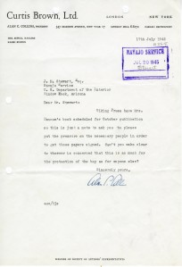 Alan C. Collins to J.M. Stewart; July 17, 1945; Decimal Files, 1936-1942 (NAID 7863878)