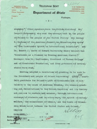 Telegram 46 to U.S. Legation in Poland, p. 2