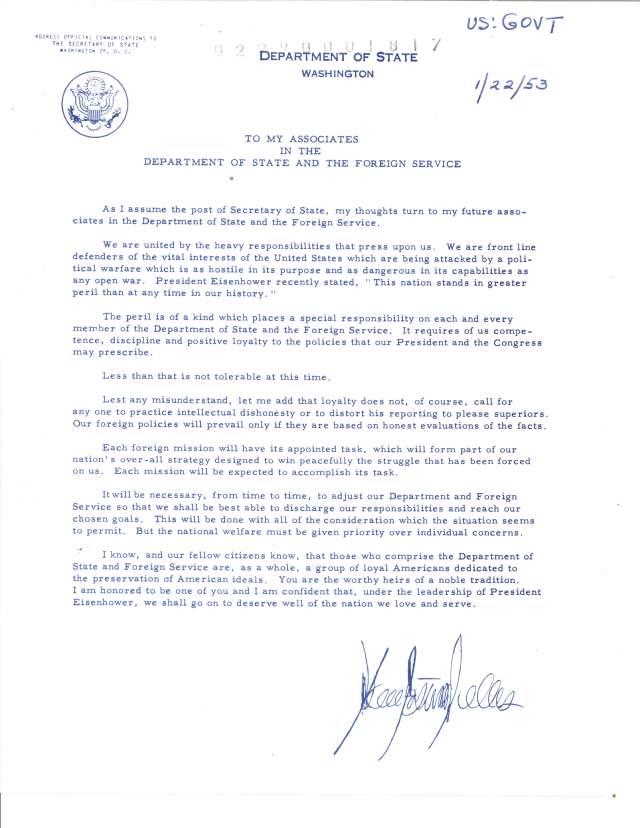 Dulles Statement