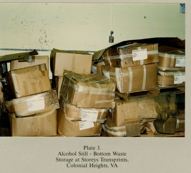 Plate 3. Alcohol Still - Bottom Waste Storage at Storeys Transprints, Colonial Heights, VA