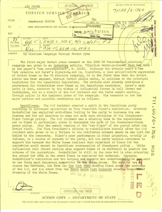 Despatch 744 US Embassy, Moscow to Department of State, June 17, 1960. File 711.00/6-1760