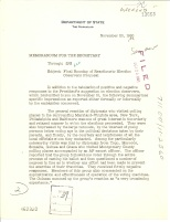 Counselor Theodore Achilles to Secretary of State Christian Herter, Memorandum, November 23, 1960, file 711.00/11-2360, 1960-63 Central Decimal File, RG 59
