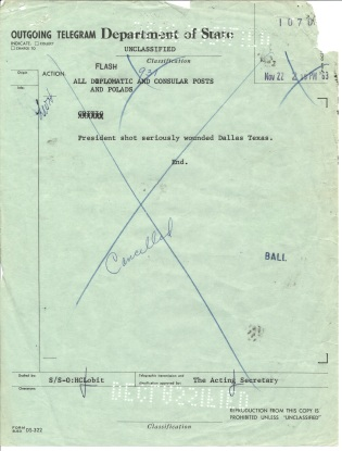 Circular Telegram 931 (canceled), Nov 23, 1963