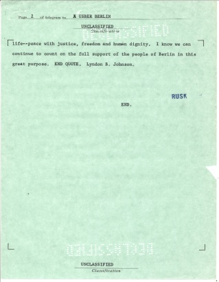 Telegram 445. Nov 30, 1963 p2