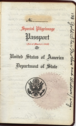 Sample passport, file 138 Gold Star Mothers and Widows/orig., Passport Division, Decimal Files, 1910-49, Entry A1-3001, RG 59: General Records of the Department of State