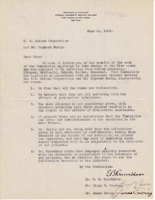 1929 Jun Cmte of Phys to USRC and Berry Re Fryer Et Al