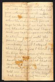 Personal Account of Cpl. Harry Hovey